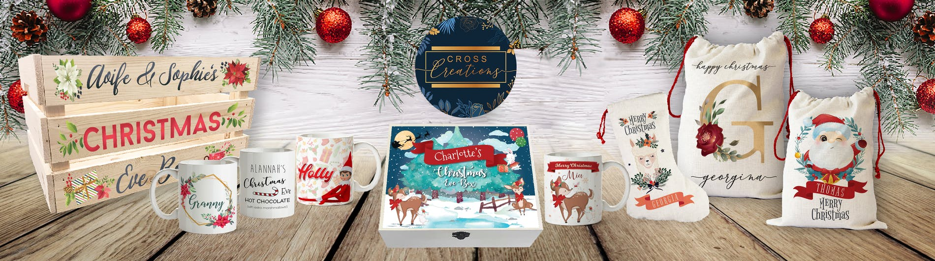 Personalised Christmas Gifts & Christmas Decorations by Cross Creations