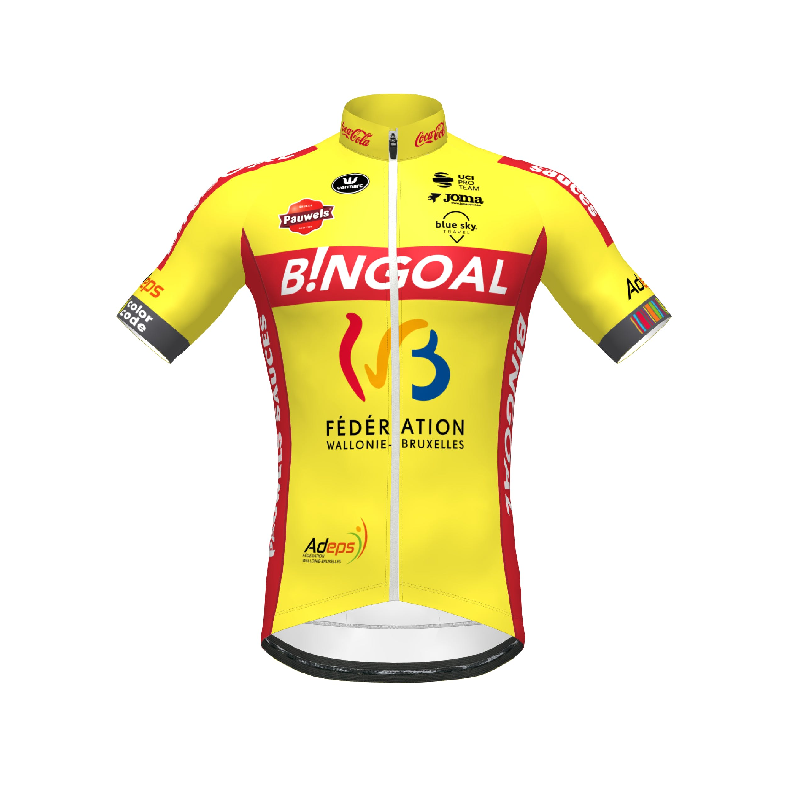Wallonie Bruxelles 2021 Jersey Short Sleeves SP.L Aero