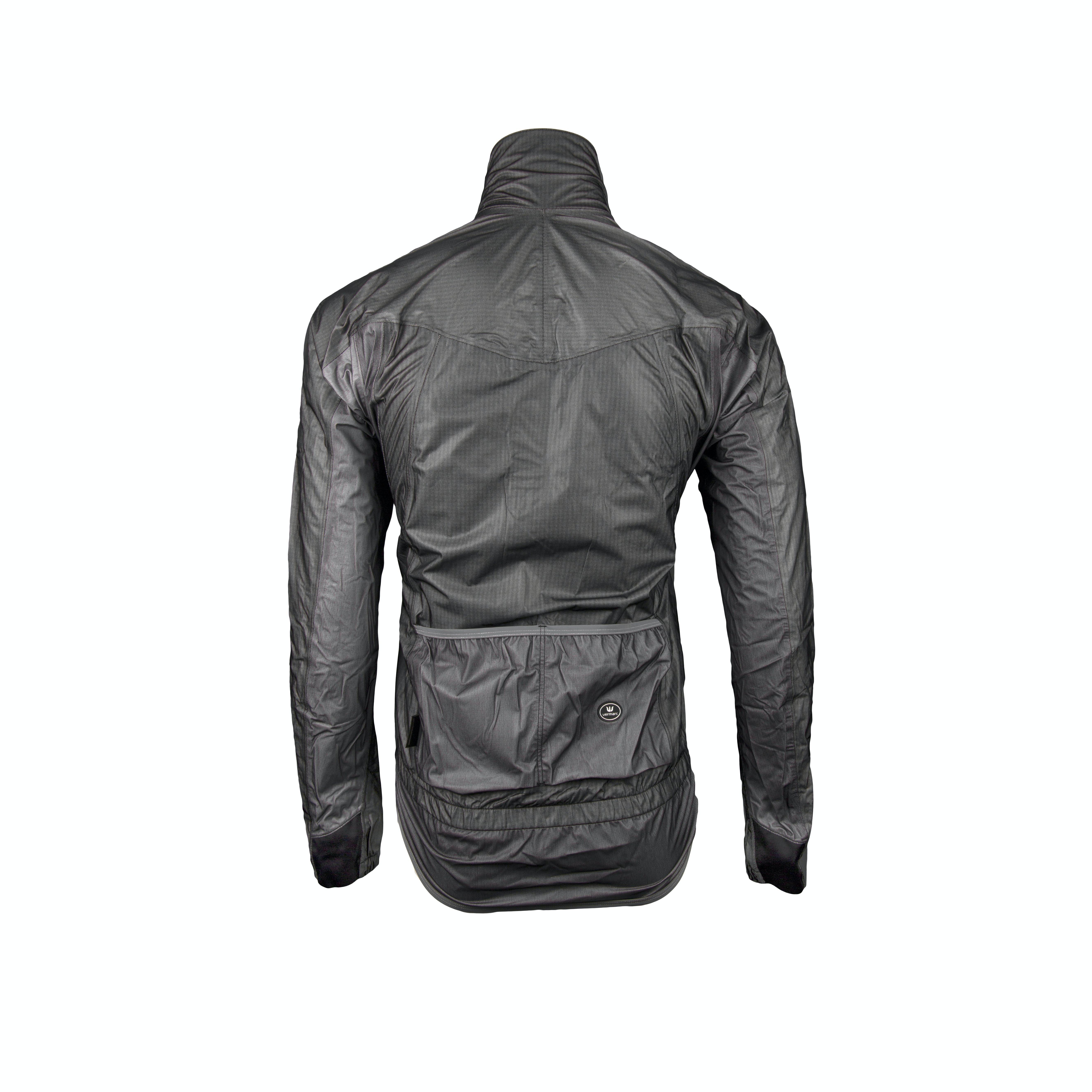 Rainjacket Long Sleeves e-Rain Silver