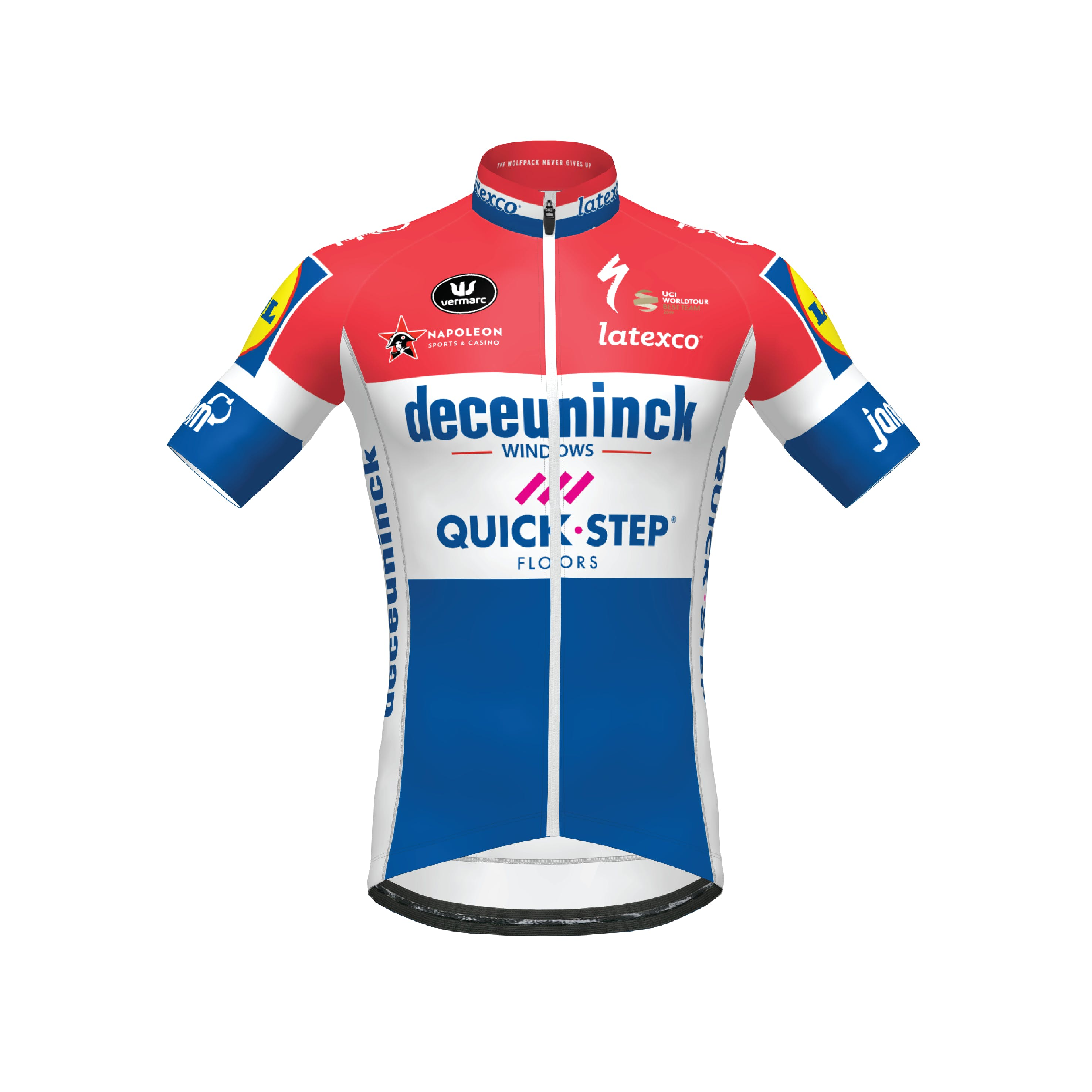 Deceuninck Quick-Step 2020 Champion Netherlands Jersey Short Sleeves Aero