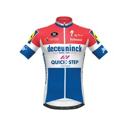 Deceuninck Quick-Step 2019 Champion Netherlands Maillot Manches Courtes Aero