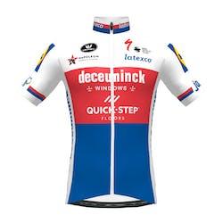 PRévente! Deceuninck Quick-Step 2021 Champion Republique Tcheque Maillot Manches Courtes Aero SP.L