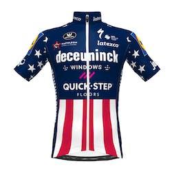 VOORVERKOOP! Deceuninck Quick-Step 2021 Kampioen USA Korte Mouwen Aero SP.L