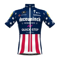 PRévente! Deceuninck Quick-Step 2021 Champion USA Maillot Manches Courtes Aero SP.L