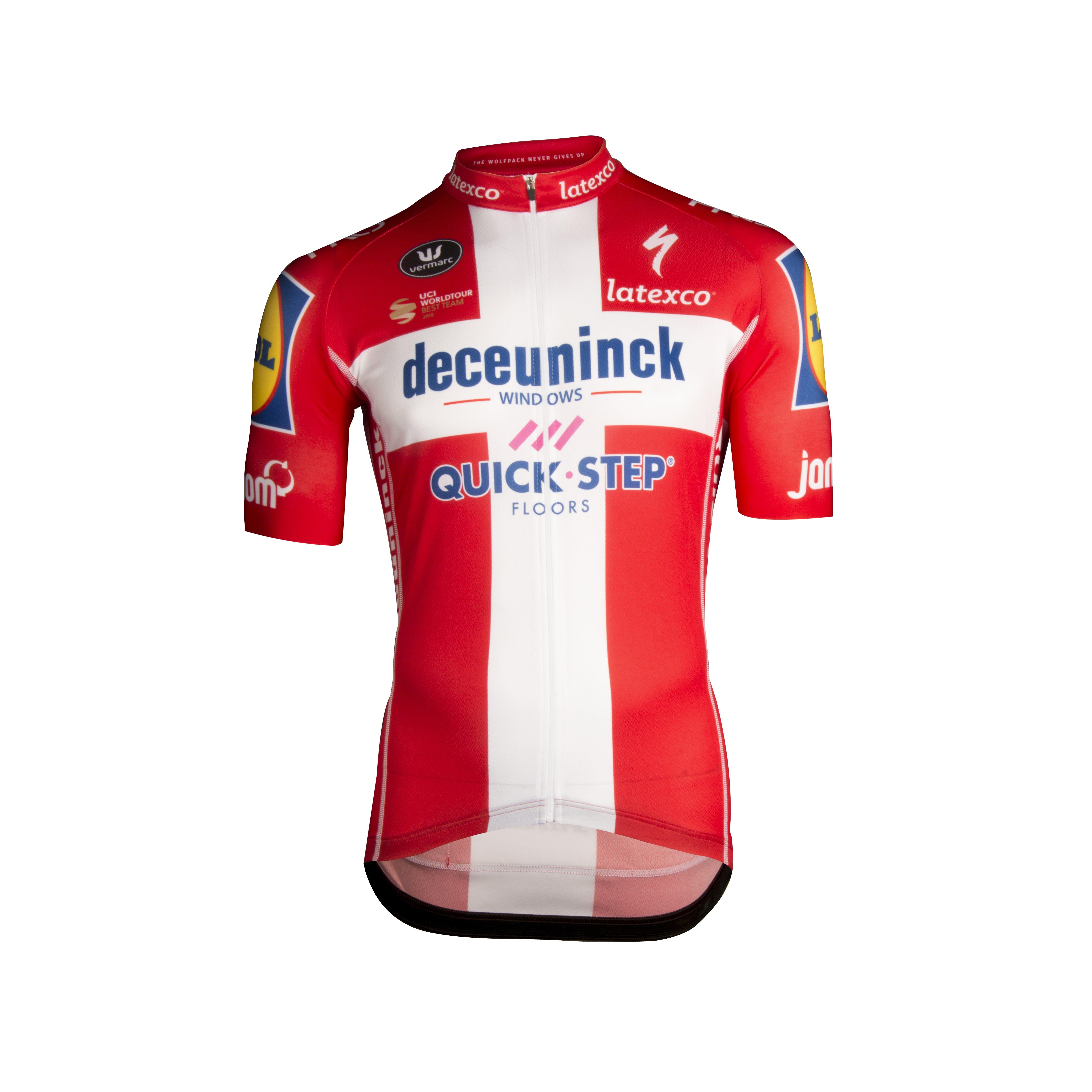 Deceuninck Quick-Step Champion Denmark Maillot Manches Courtes Aero