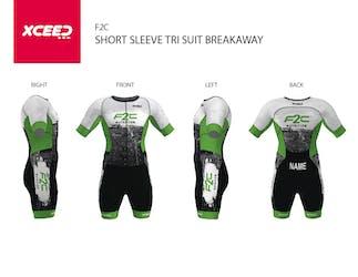 F2C Short Sleeve Trisuit - Breakaway