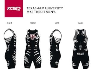 Texas A&M Triathlon Team  - MX3 Tri Suit