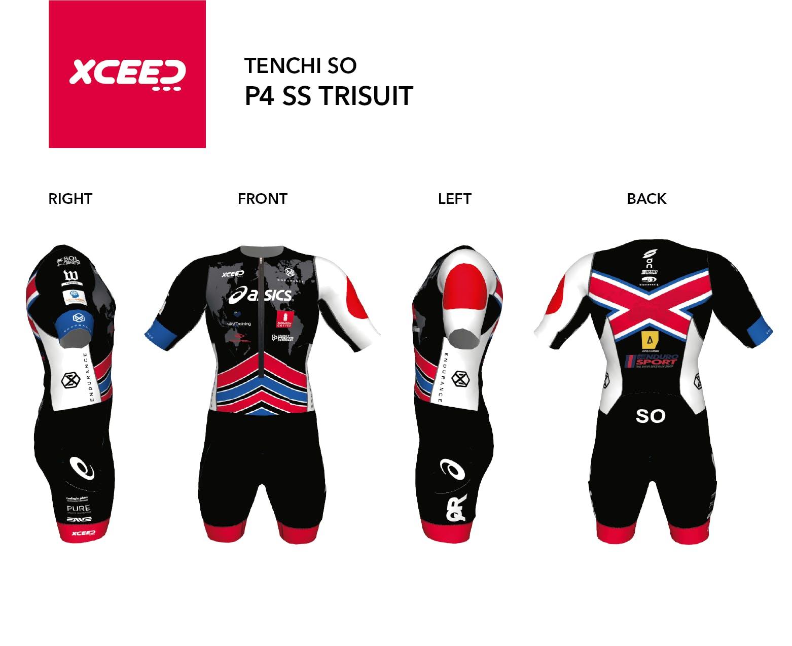 P4 Short Sleeve Tri Suit Tenchi So