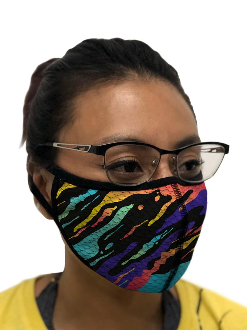 Mask Rainbow Animal Print