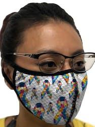 Mask Autism Awareness Ribbons