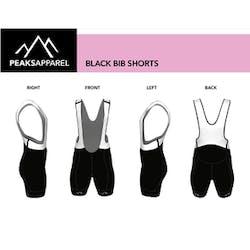 Solid Black Bibs Shorts