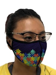 Mask Autism Awareness - Blue Puzzle