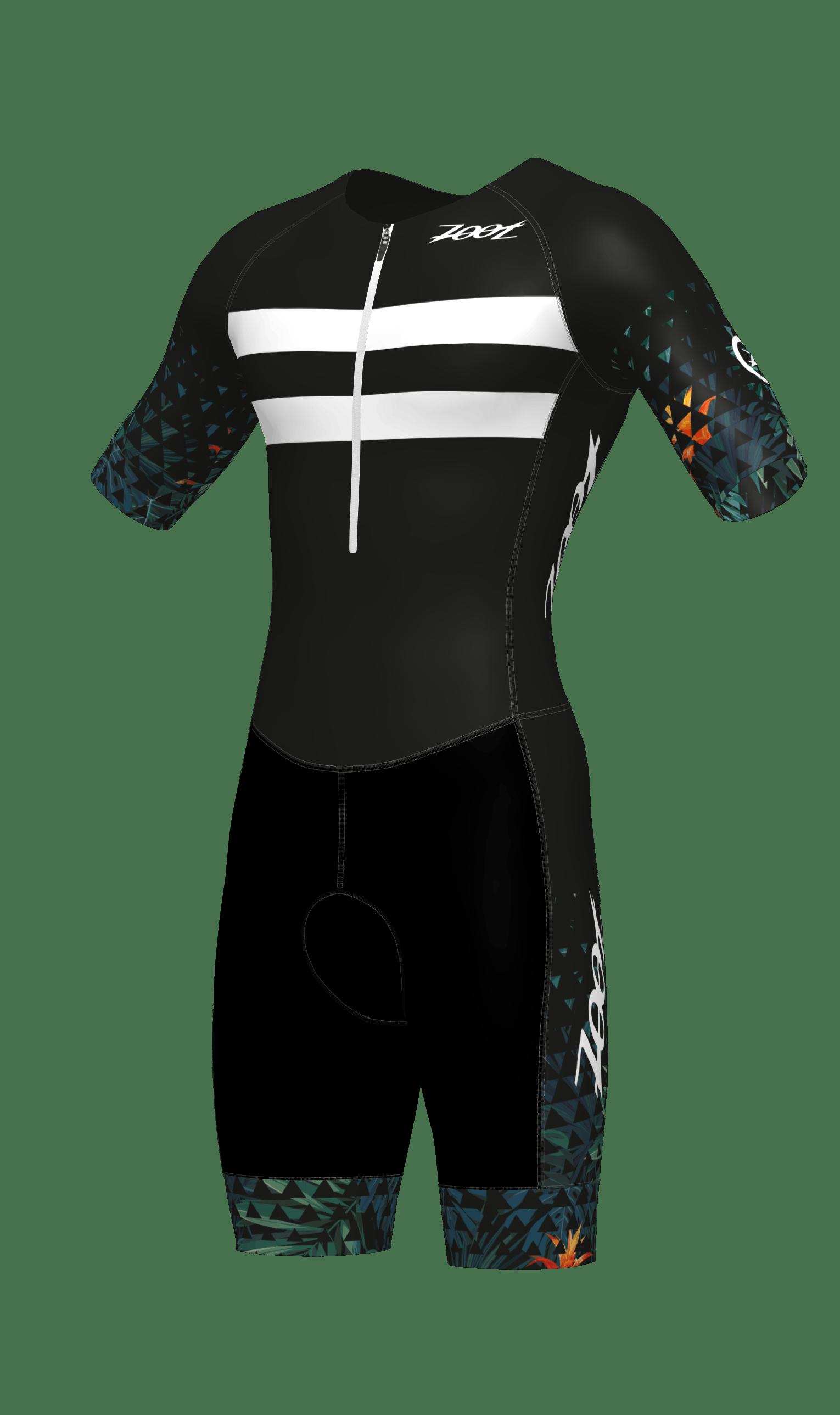 Herren Triathlon Rennanzug mit Ärmeln und Reißverschluss